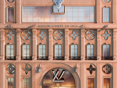 Louis Vuitton Aesthetic building facade fashion hypebeast architecture luxury louis vuitton