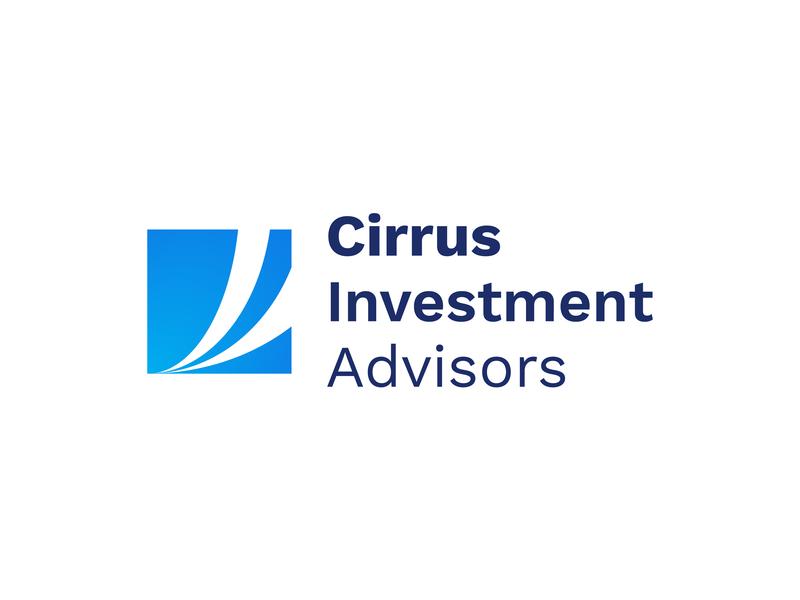 Cirrus Logo money mark finance investment logo clouds cirrus
