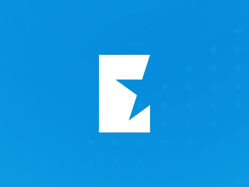 Elite E elite simple basic america finance star e logo
