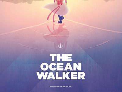 The Ocean Walker rita leeds sunset colors ripples walk ocean movie poster illustration arrested development the ocean walker