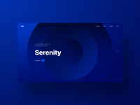 Geometry and gradients web - concept design gradient website home page minimal headline typography geometry circle blue landing page web web app