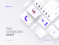 Fitness App UI Kit Freebie desktop web app web mobile mobile app elements ui design ui kit fitness dashboard freebie free download free