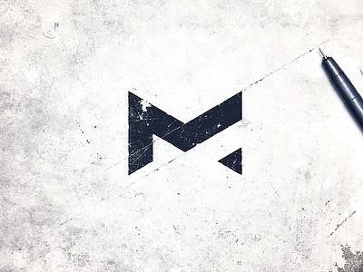 Metaphor minimalistic ink lettering calligraphy typography monogram brand symbol logo lettermark