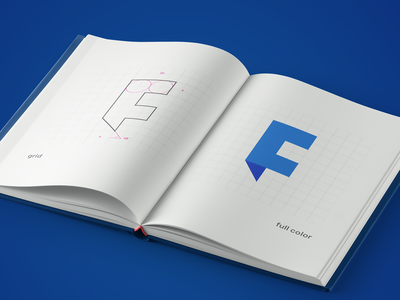 Folded Brand Book avatar vector book monogram lettermark design branding brand symbol logo