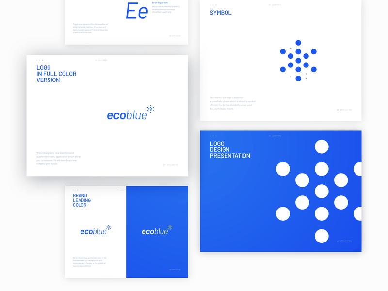 Ecoblue Brand Mark typography design vector lettering avatar branding brand symbol logo