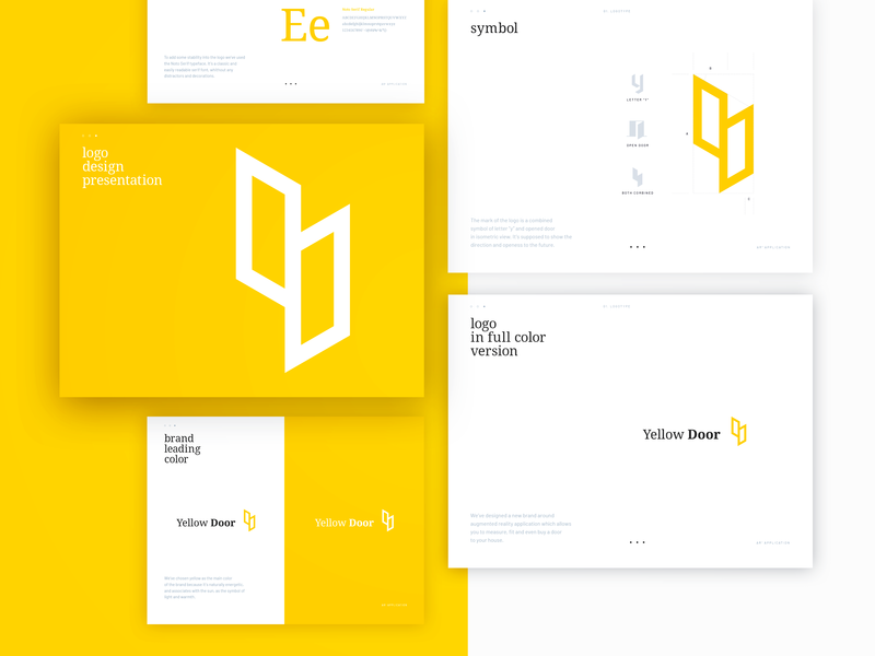 Brand mark for Yellow Door AR+ application augmented reality application branding typography vector monogram avatar lettermark design brand symbol logo