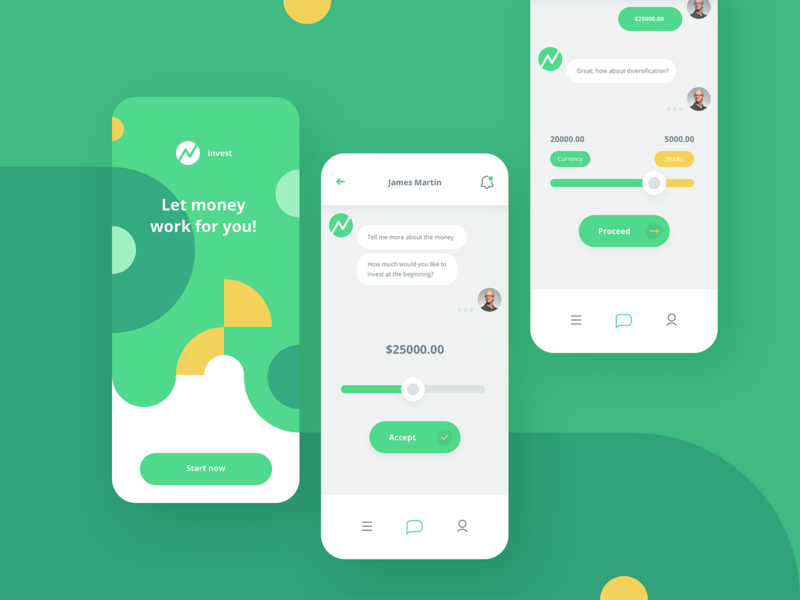 Chatbot app view - concept design illustrator sketch chat splash screen technology tool fintech finance business flat design user interface concept design app iphone ios mobile