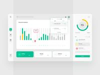 Dashboard of fintech web application - joint stock companies