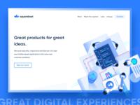 Squareboat Website - Rebranding