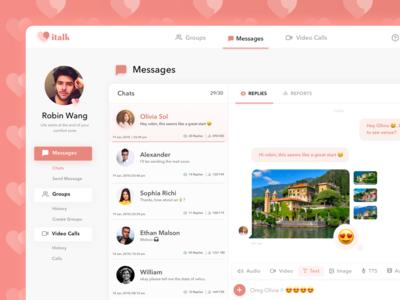 italk - Chat App Dashboard