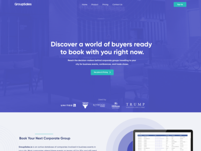 Corporate travel landing page travel ui ux website design landing page