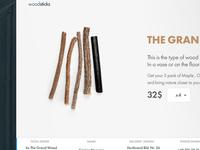 Wood Landing Page