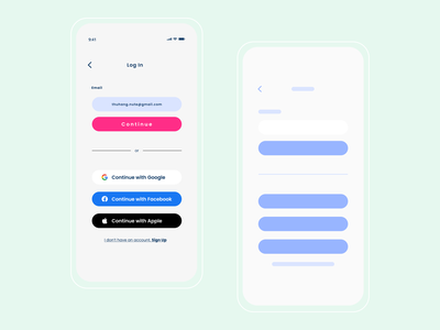 Login Page & Wireframe Mobile app - Exploration userinterface wireframe ux vector logo google ui design clean branding app