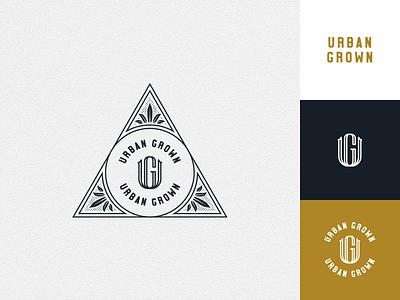 Urban Grown vector cultivation growing urban linework illustration monoline badgedesign badge monogram logodesign cannabis logo branding cannabis cannabis branding