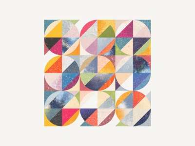 Geometric textured study
