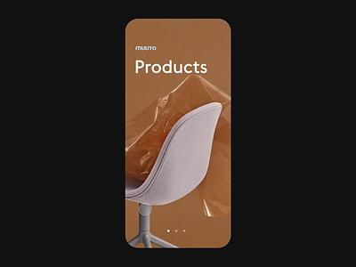 Muuto • Menu menu branding animation ui minimal flat figma design app