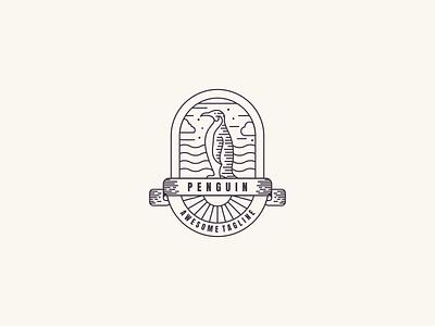 Penguin line Art design lineart vector illustration graphic design neatlineart branding logo penguinlineart penguin
