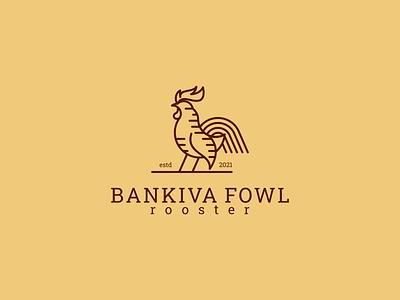 Bankiva Fowl Rooster Logo vector ui illustration art lineart design branding neatlineart graphic design logo rooster fowl bankiva