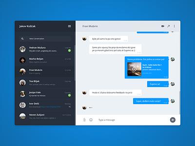 Chat module — UI Challenge hangouts messenger module chat
