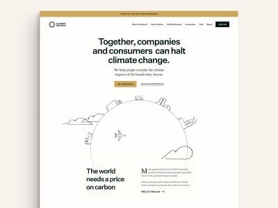 Climate Neutral Version 2 website design globalwarming global neutral emissions carbon climate green planet globe website