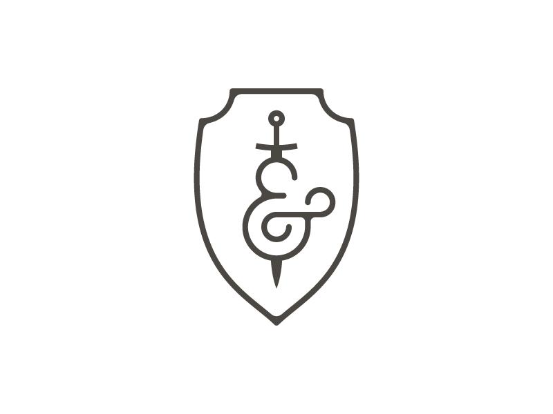 Sword And Shield thirty logos badge ampersand shield sword