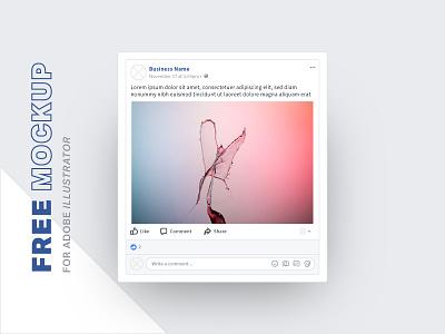 Free Facebook Mockups free social post facebook mockup