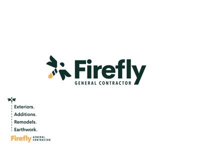 Firefly hardware screw branding logo general contractor firefly