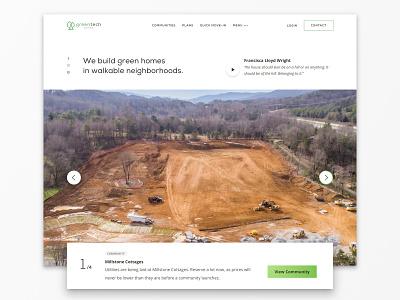 New Construction Home Builder Website Design new homes homes new construction home builder hero carousel website