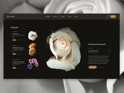 #designabovethefold ep.2 - Florist website design website hero header e-commerce ecommerce bouquets bouquet flowers flower florist