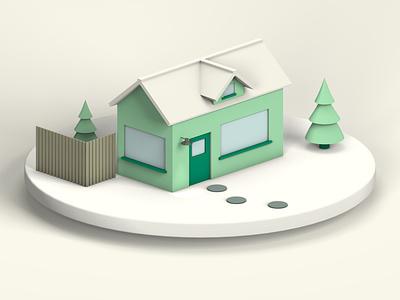 3D House houses home house 3d illustration 3d art 3d