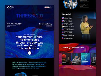 Ocean Conference gradients gradient speaker list speaker lineup speakers one page website one page one page design one page site conference
