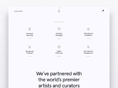 Catalogue Style Test 2 minimalism minimalistic minimal icons web design website design website
