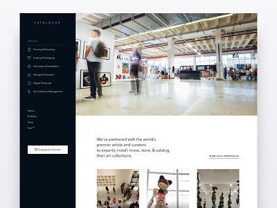Catalogue Style Test 3 side menu webdesign website design website