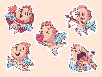 Cupid sticker set for ok.ru