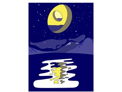 Moon inception art design vector illustration