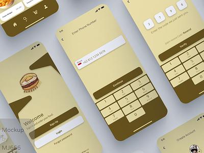 HAMBURGEGG App UI Design design ui