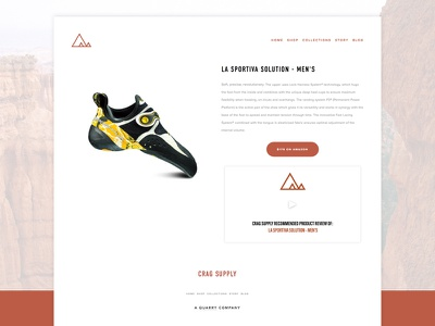 Crag Supply climbing design ecommerce typography web user interface ui layout website ux