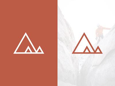 Crag Supply Logo identity orange triangle vector climbing mountain icon mark logo