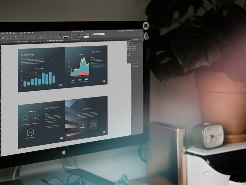 Financial Data Slides Work corporate branding data analytics graph data presentation template presentation design presentation layout financial technology financial services