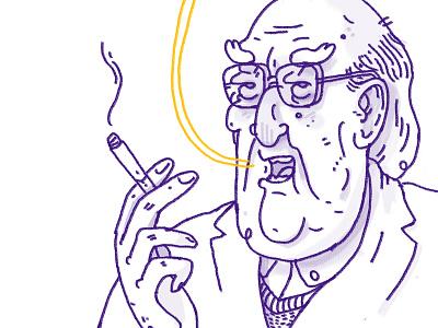 Andrea Camilleri italy italia sicily illustration sicilia character writer scrittore camilleri andrea montalbano