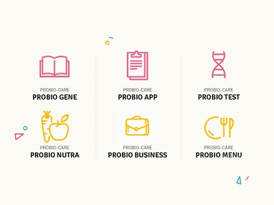 Icon Service illustration application note business job food fruit dna book icon