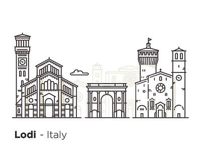 Lodi - Italy italia lodi monument italy building illustration design icons city architecture