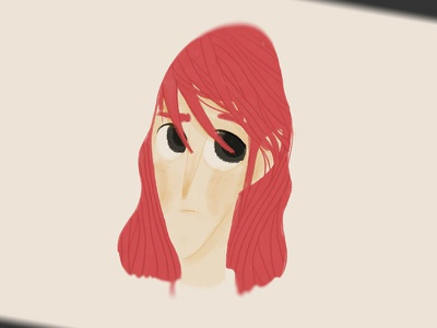 Joan red hair capelli rossi donna ragazza girl illustration character