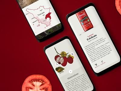 Petti Pomodoro - Website redesign responsive food website petti pomodoro tomato italy italia illustration