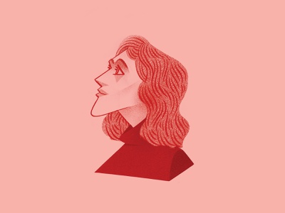 Dalia procreate illustration face characterdesign character dalia