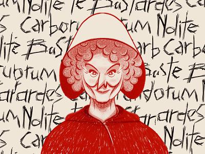 Margaret Atwood - Morgana Project procreate ipad fanart chiara tagliaferri illustration michela murgia morgana atwood margaret