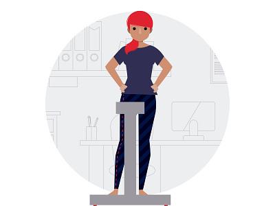 Como é feita avaliação médica avaliação médica consulta medicina pictograma paciente médica ilustração medical care illustration pictogram woman medical