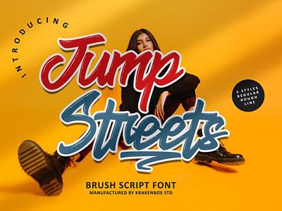 Jump Streets Font handwitten graffiti handmade design typography typeface fashion tattoo garage street urban skate script font