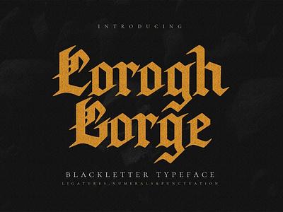 Corogh Gorge - Blackletter Font fashion