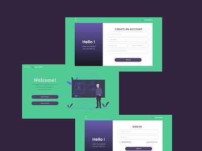 Online Educational Site's SignIn Page Design design ui
